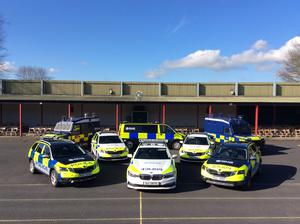How the police fleet will look with the new livery.