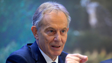 Tony Blair addressing conference yesterday. Photo: Sally MacMonagle/EPP/PA Wire