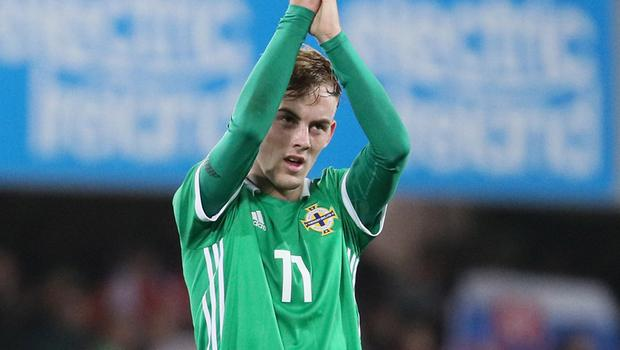 Mark Sykes netted the winning goal for Northern Ireland U21s against Slovakia at Windsor Park last year.
