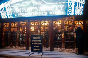"""People in 'lockdown' in London Palladium after Oxford Circus station in London was evacuated because of an """"incident"""". Pic: Yui Mok/PA Wire"""