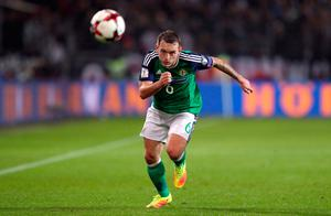 Northern Ireland's Lee Hodson during the 2018 FIFA World Cup Qualifying match at the HDI Arena, Hannover. PRESS ASSOCIATION Photo. Picture date: Tuesday October 11, 2016. See PA story SOCCER Germany. Photo credit should read: Andrew Matthews/PA Wire. RESTRICTIONS: Editorial use only, No commercial use without prior permission, please contact PA Images for further information: Tel: +44 (0) 115 8447447.