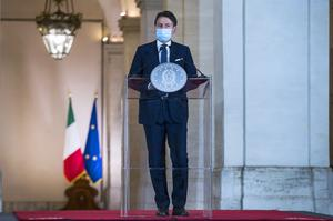 Italian Premier Giuseppe Conte announced new measures as the country's daily infections doubled within a week (Angelo Carconi/Pool/AP)