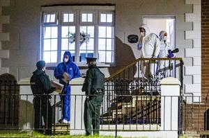 Forensics at the scene of a murder in the Lenadoon Avenue area of west Belfast on May 17th 2020 (Photo by Kevin Scott for Belfast Telegraph)