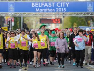 PACEMAKER BELFAST   04/05/2015 The Fun Run  during the Belfast Marathon 2015 takes place on Bank Holiday monday. Photo Colm Lenaghan/Pacemaker