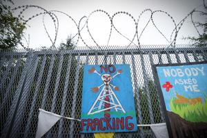 The Belcoo anti-fracking demonstration in Co Fermanagh