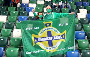 Around 600 fans watched Northern Ireland's clash with Austria (Liam McBurney/PA)