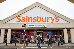 In April, Sainsbury's reported an 8% jump in sales for the first seven weeks of the quarter (Jacob King/PA)