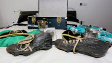 Some of Best's treasures including his first football boots