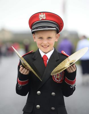 Pictured is Lewis Martin from Ballyvea band at the Ballymartin and Kilkeel 12th of July celebrations. Picture Mark Marlow