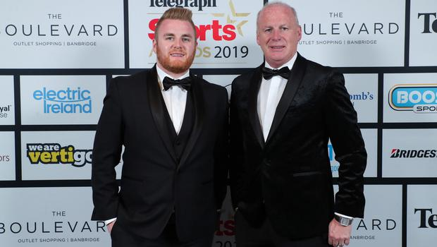 Press Eye - Belfast - Northern Ireland - 20th January  2020    Art and Eoin OÕHagan pictured at the 2019 Belfast Telegraph Sport Awards at the Crowne Plaza Hotel in Belfast.  Photo by Kelvin Boyes / Press Eye.