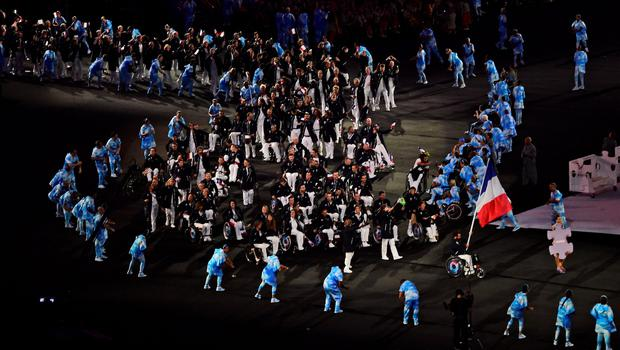 TOPSHOT - View of the opening ceremony of the Paralympic Games at Maracana Stadium in Rio de Janeiro, Brazil, on September 7, 2016. / AFP PHOTO / TASSO MARCELOTASSO MARCELO/AFP/Getty Images