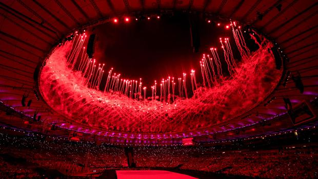TOPSHOT - View of the Opening Ceremony of the Rio 2016 Paralympic Games at the Maracana Stadium in  Rio de Janeiro, Brazil, on September 7, 2016. Photo by Bob Martin/OIS/IOC via AFP.  RESTRICTED TO EDITORIAL USE.  / AFP PHOTO / OIS/IOC / Bob Martin for OISBOB MARTIN FOR OIS/AFP/Getty Images