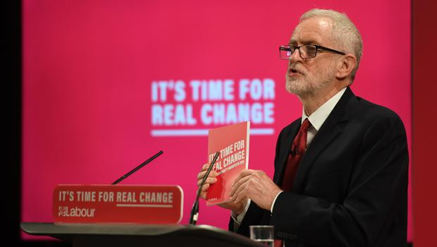 Labour Party leader Jeremy Corbyn at the launch of the Labour Party race and faith manifesto at the Bernie Grant Arts Centre, north London (Joe Giddens/PA)