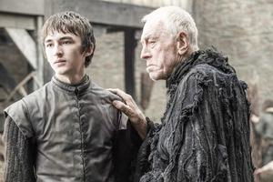 Isaac Hempstead-Wright as Bran Stark and Max von Sydow as the Three-Eyed Raven – photo Helen Sloan/HBO