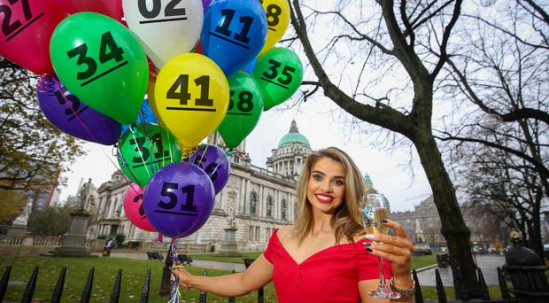 Former Miss Northern Ireland Anna Henry celebrating The National Lottery's 25th Birthday