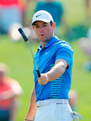 Frustrated figure: Rory McIlroy at Sawgrass during his unsuccessful battle to make the cut last night
