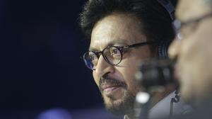 Irrfan Khan watches a Vivo Pro Kabaddi league match in Mumbai, India. Khan, a veteran character actor in Bollywood movies and one of India's most well-known exports to Hollywood, has died. (Rafiq Maqbool/AP)