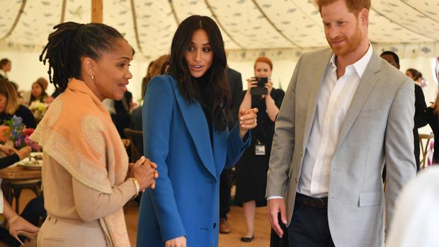 Doria Ragland with Harry and Meghan (Ben Stansall/PA)