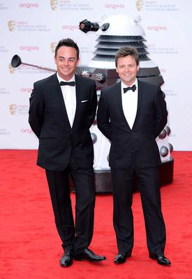 Anthony McPartlin (left) and Declan Donnelly arriving for the 2013 Arqiva British Academy Television Awards at the Royal Festival Hall, London. PRESS ASSOCIATION Photo. Picture date: Sunday May 12, 2013. See PA story SHOWBIZ Bafta. Photo credit should read: Dominic Lipinski/PA Wire