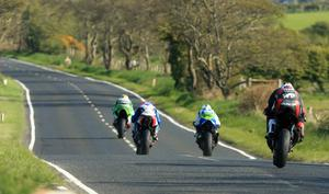 Pacemaker Belfast 28-4-17 North West 200 - Supersport race Martin Jessopp (Riders Motorcyles Triumph) leads during today's Supersport race at the North West 200 in Co Londonderry.  Photo by David Maginnis/Pacemaker Press