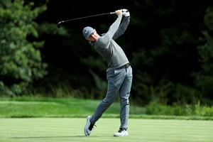 NORTON, MA - SEPTEMBER 05:  Rory McIlroy of Northern Ireland plays his shot from the 14th tee during the final round of the Deutsche Bank Championship at TPC Boston on September 5, 2016 in Norton, Massachusetts.  (Photo by David Cannon/Getty Images)