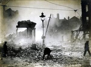 WORLD WAR II: BELFAST AIR RAIDS. BRIDGE STREET. 4/5 May 1941. Bridge Street from High Street. AR 31