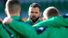 Ireland coach Andy Farrell has a win to savour