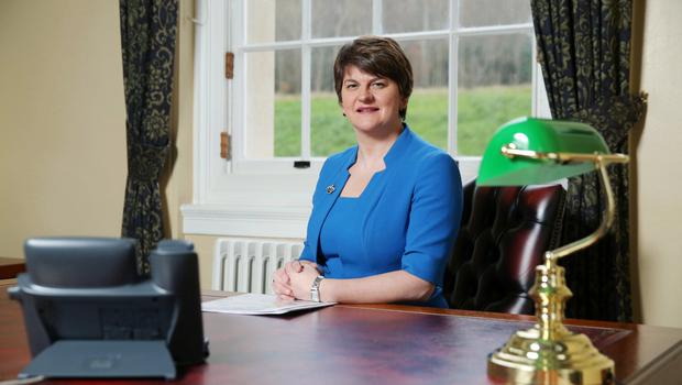 Press Eye - Belfast - Northern Ireland - 17th December 2015  Portrait of Arlene Foster at Parliament Buildings, Stormont in advance of becoming DUP leader.   Picture by Kelvin Boyes  / Press Eye.