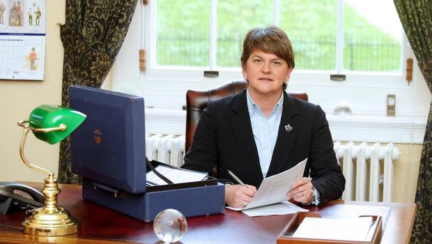 Press Eye - Belfast - Northern Ireland -18th November 2015  Finance Minster Arlene Foster pictured in her office at Parliament Buildings, Stormont.   Picture by Jonathan Porter/PressEye