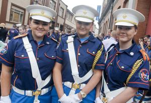 Relaxing before the Apprentice Boys 324th Annual Commemoration in Derry, on Saturday 10th August 2013, is from left, Hannah Mitchell, Emma Waterworth & Helena Livingstone.