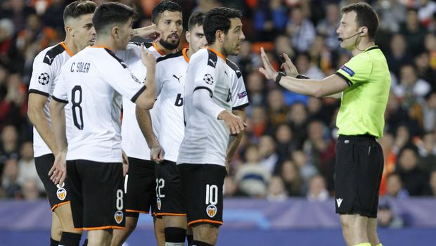 Valencia were frustrated that Pulisic's goal was allowed to stand after a VAR review (AP Photo/Alberto Saiz)