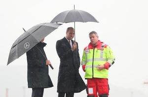 The Duke of Cambridge (centre) sees the work of Lagan Search and Rescue, a rescue and lifeboat service that covers the Belfast Harbour Estate, River Lagan and the estuarial waters of Belfast Lough, in the Titanic Quarter, as part of his tour of Belfast. PRESS ASSOCIATION Photo. Picture date: Wednesday October 4, 2017. Brian Lawless/PA Wire