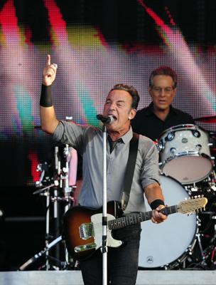 Bruce Springsteen in concert this evening at the Kings Hall in Belfast.