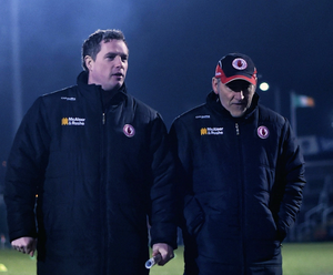 Dynamic duo: Tyrone assistant Gavin Devlin praised the work ethic of boss Mickey Harte