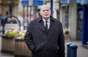 David Jeffrey as the funeral of Harry Gregg takes place at St PatrickÕs Church in Coleraine on February 21st 2020 (Photo by Kevin Scott for Belfast Telegraph)