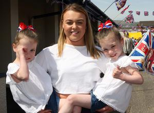 Mandatory Credit - Picture by Freddie Parkinson/Press Eye © Saturday 19 May 2018 Linfield Supporters Social Club, 1 Jumna Street, Belfast. Community First Wedding Party. Paige Irvine (Centre) with twins Faith and Gracey McMullan (3)