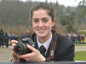 Mandatory Credit: Rowland White / PressEye Belfast Telegraph Schools' Cup Semi-Finals FANS PICTURES Venue: Lisnagarvey Date: 11th February 2015 Caption: Getting it in the frame