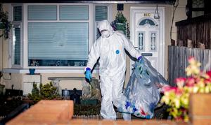 Police officers arrested man and carried  out searches in the Strathroy Park area of Ardoyne in north Belfast . April 7th 2020 (Photo by Kevin Scott for Belfast Telegraph)