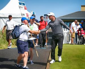 Press Eye - Belfast - Northern Ireland - 8th July 2017   Day three of the Dubai Duty Free Irish Open Hosted by the Rory Foundation at Portstewart Golf Club, Co.Derry / Co. Londonderry, Northern Ireland.  Ryan Fox starts round 3 on the 1st tee  Picture by Matt Mackey / presseye.com