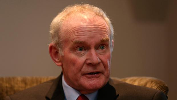 Martin McGuinness at the Bishop's Gate Hotel in Derry, as the former Deputy First Minister announced that he is quitting elected politics to concentrate on recovering from serious health issues: Niall Carson/PA Wire