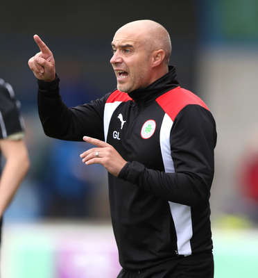 Change of scenery: Cliftonville have won every match without conceding during manager Gerard Lyttle's touchline ban