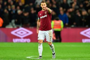 At double: Marko Arnautovic after hitting a brace