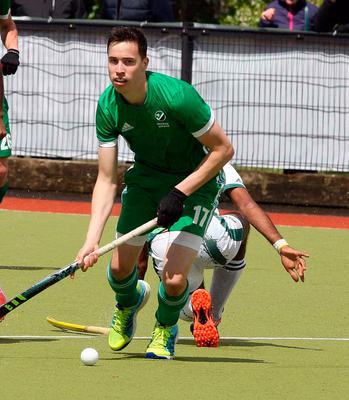 In form: Lisngarvey's Sean Murray scored one and set up another for Ireland against Argentina