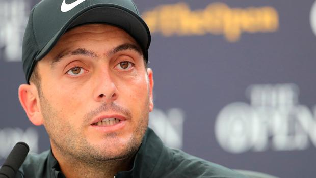 Italy's Francesco Molinari during the press conference on preview day two of The Open Championship 2019 at Royal Portrush Golf Club. PRESS ASSOCIATION Photo. Picture date: Monday July 15, 2019. See PA story GOLF Open. Photo credit should read: Richard Sellers/PA Wire. RESTRICTIONS: Editorial use only. No commercial use. Still image use only. The Open Championship logo and clear link to The Open website (TheOpen.com) to be included on website publishing.