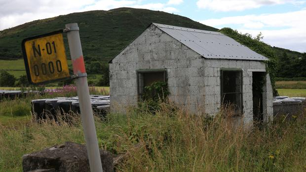 An abandoned border guard hut on the northern side of the Irish border (Niall Carson/PA)