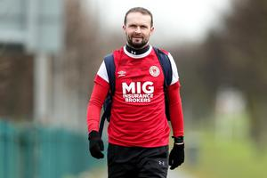Conan Byrne walked 42km (26 miles) to take in all six of Dublin's League of Ireland grounds at the Aviva Stadium.