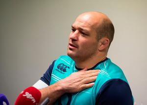 Ireland's Rory Best during the captain's run at Murrayfield Stadium, Edinburgh. PRESS ASSOCIATION Photo. Picture date Thursday February 3, 2017. See PA story RUGBYU Ireland. Photo credit should read: Ian Rutherford/PA Wire. RESTRICTIONS: Editorial use only, No commercial use without prior permission.