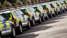Image posted on social media by PSNI showing the new cars