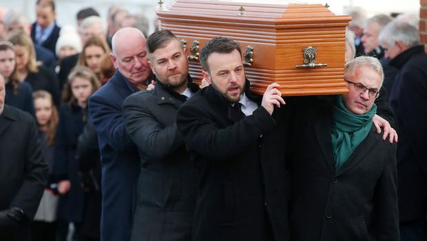 Requiem Mass and celebration of the life of Seamus Mallon at St James of Jerusalem Church, Mullaghbrack, Co Armagh. Picture by Jonathan Porter/PressEye