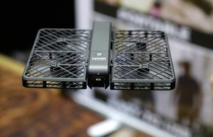 The Hover Camera Passport flies during CES Unveiled before CES International, Tuesday, Jan. 3, 2017, in Las Vega(AP Photo/John Locher)